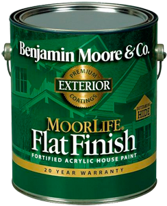 Moorlife® N105 100% Acrylic Flat House Paint